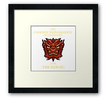 Smaug Quotes-Colbert Report- in the house Framed Print
