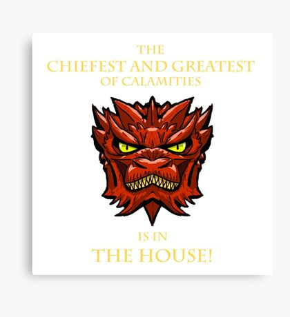 Smaug Quotes-Colbert Report- in the house Canvas Print