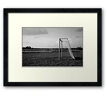 In the middle of nowhere (BW version) Framed Print