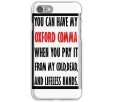 "Oxford ""Comma"" iPhone Case/Skin"