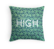 HIGH TYPO! Cannabis / Hemp / 420 / Marijuana  - Pattern Throw Pillow