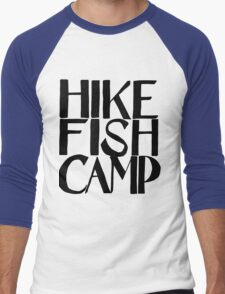 hike fish camp Men's Baseball ¾ T-Shirt