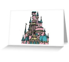 Pastel Castle Greeting Card