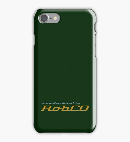 Manufactured by RobCo iPhone Case/Skin