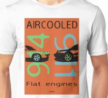aircooled flat engines colored 3 Unisex T-Shirt