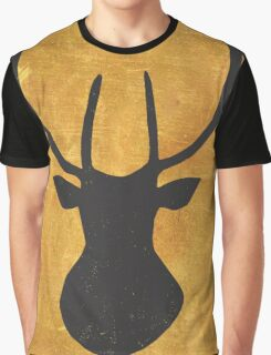 Lapland Madness Gold Deer 1 B/W Graphic T-Shirt