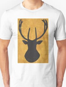 Lapland Madness Gold Deer 1 B/W T-Shirt