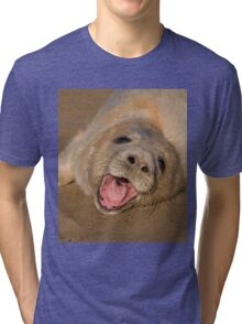 Seal Pup On The Beach At Donna Nook Tri-blend T-Shirt