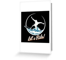 Surfer Print Design Greeting Card