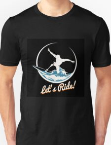 Surfer Print Design Unisex T-Shirt