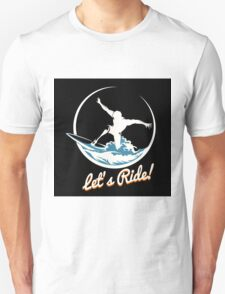 Surfer Print Design Unisex T-Shirt