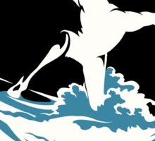 Surfer Print Design Sticker