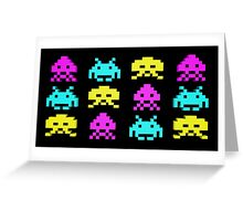 Game Invaders Greeting Card
