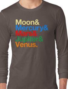 Sailor Senshi x Helvetica (Color) Long Sleeve T-Shirt