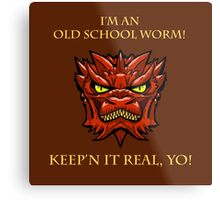 Smaug Quotes-Colbert Report- old school worm Metal Print