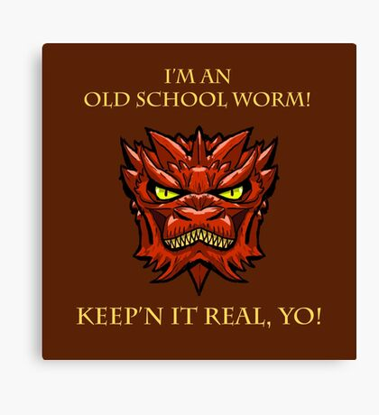 Smaug Quotes-Colbert Report- old school worm Canvas Print