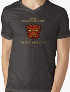 Smaug Quotes-Colbert Report- old school worm Mens V-Neck T-Shirt
