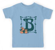 Fancy art nouveau letter B, flower Kids Tee