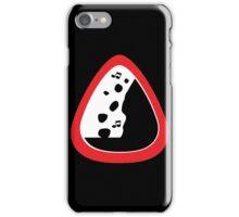 Guitar Pick / Plectrum: Traffic sign falling rocks iPhone Case/Skin