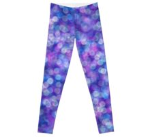 Purple Bokeh Blurred Quirky Pattern Leggings