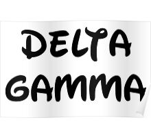 Delta Gamma - Disney Poster