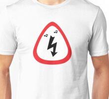Guitar Pick / Plectrum: Traffic sign high voltage Unisex T-Shirt