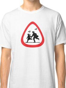 Guitar Pick / Plectrum: Traffic sign school ahead Classic T-Shirt
