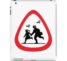 Guitar Pick / Plectrum: Traffic sign school ahead iPad Case/Skin