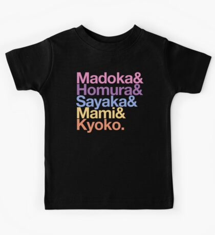 Contractually Obligated Magical Girls - Madoka goes Helvetica Kids Tee