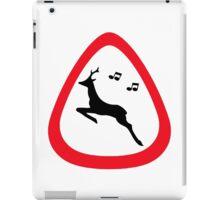 Guitar Pick / Plectrum: Traffic sign wild animal crossing iPad Case/Skin