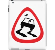 Guitar Pick / Plectrum: Traffic sign slippery road iPad Case/Skin