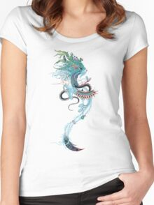 Journeying Spirit (ermine) Women's Fitted Scoop T-Shirt