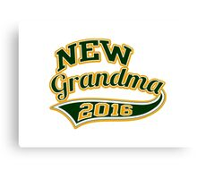 New Grandma 2016 Ballpark Sporty Style Canvas Print