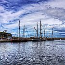 Tall Ships in Whitehaven Harbour by Tom Gomez