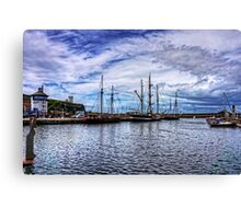Tall Ships in Whitehaven Harbour Canvas Print