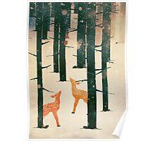 Winter Deer Poster