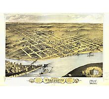 Bird's eye view of Wyandotte, Wyandotte Co., Kansas (1869) Photographic Print