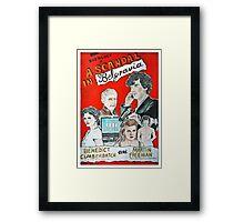 scandal in belgravia vintage poster Framed Print