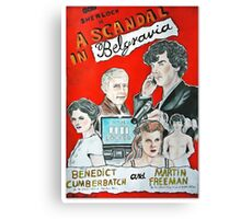 scandal in belgravia vintage poster Canvas Print