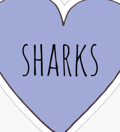 I LOVE SHARKS Sticker