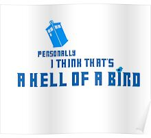 Doctor Who - A Hell of a Bird Poster