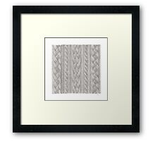 Cable Knit Framed Print
