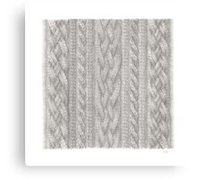 Cable Knit Canvas Print