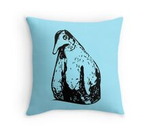Lone Penguin Throw Pillow