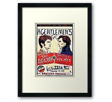 gentlemen's fight Framed Print