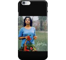Sophia Loren holding a basket iPhone Case/Skin