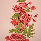 Bountiful Floral Reduction Screenprint by ArtLuver