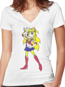 Sailor Maria Women's Fitted V-Neck T-Shirt