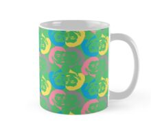 Audrey Green Pink Cyan Yellow Mug