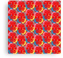 Audrey Red Pink Blue Yellow Canvas Print